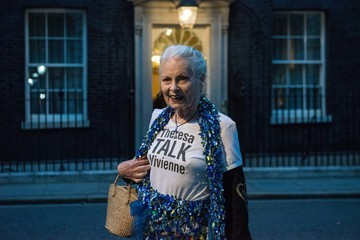 Vivienne Westwood Theresa May Hosts a Celebration of British Fashion at 10 Downing Street