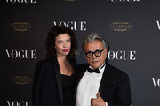 Giuseppe Zanotti(R) attends the Vogue 95th Anniversary Party on October 3, 2015 in Paris, France.