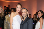 Constance Jablonski and Francisco Costa attend Vogue 95th Anniversary Party on October 3, 2015 in Paris, France.