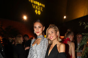 (L-R) Stefanie Giesinger and Xenia Adonts attend the Vogue party on July 05, 2019 in Berlin, Germany.