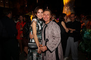 Nadine Warmuth and Dawid Tomaszewski attend the Vogue party on July 05, 2019 in Berlin, Germany.
