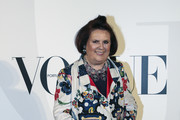 Suzy Menkes attends the Vogue Portugal Party Photocall on October 5, 2017 in Lisbon, Portugal.