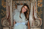 Anna Dello Russo attends the Vogue Yoox Challenge - The Future of Responsible Fashion Dinner event at S. Paolo Converso on February 22, 2020 in Milan, Italy.