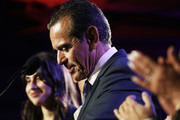 Former Los Angeles Mayor Antonio Villaraigosa (C) bows his head while making his concession speech at an election night party concluding his run for governor on June 5, 2018 in Los Angeles, California. California voters cast ballots in important primaries across the state.