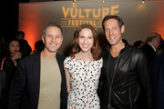 (L-R)  New York Magazine Editor-in-Chief, Adam Moss, CEO, New York Media, Pam Wasserstein, and Publisher & CRO, New York Media, Avi Zimak attend the opening night gala at Vulture Festival LA presented by AT&T at Hollywood Roosevelt Hotel on November 17, 2017 in Hollywood, California.