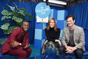 (L-R) Demi Adejuyigbe, Andrea Savage and Tom Everett Scott attend the Vulture Festival Presented By AT&T at Hollywood Roosevelt Hotel on November 18, 2018 in Hollywood, California.