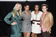 (L-R) Dascha Polanco, Susan Kelechi Watson, Candice Patton and Cameron Esposito attend Vulture Festival Presented By AT&T at The Roosevelt Hotel on November 09, 2019 in Hollywood, California.