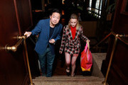 (L-R) Ken Jeong and Gillian Jacobs in the Heineken Green Room at Vulture Festival Presented By AT&T at The Roosevelt Hotel on November 10, 2019 in Hollywood, California.