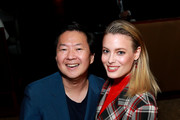 Ken Jeong and Gillian Jacobs in the Heineken Green Room at Vulture Festival Presented By AT&T at The Roosevelt Hotel on November 10, 2019 in Hollywood, California.