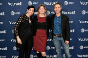 First Deputy Commissioner of the NYC Mayor's Office of Media and Entertainment, Kai Falkenberg, Novelist Jennifer Egan and New York Magazine Editor-in-Chief Adam Moss attend the Vulture Festival Presented By AT&T - Milk Studios, Day 1 at Milk Studios on May 19, 2018 in New York City.