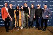 Matt Rogers, Pat Regan,  Sydnee Washington, Annie Donley, Peter Smith, Mo Fry Pasic, Dave Mizzoni and Bowen Yang attend the Vulture Festival Presented By AT&T - Milk Studios, Day 1 at Milk Studios on May 19, 2018 in New York City.