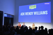 (L-R) Matt Rogers, Bowen Yang and Wendy Williams speak onstage at Vulture Festival Presented By AT&T:  at Milk Studios on May 19, 2018 in New York City.