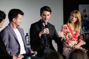 "(L-R) Director Silas Howard, Writer Daniel Pearle, and Actor Claire Danes speak onstage during ""Claire Danes and Jim Parsons's A Kid Like Jake"" on Day Two of the Vulture Festival Presented By AT&T at Milk Studios on May 20, 2018 in New York City."