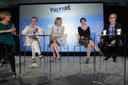 (L-R) Susan Blackwell, Jefferson Mays, Geneva Carr, Sarah Stiles and Brad Oscar speak on stage at Vulture Festival Presents:  An Irreverent Broadway Brunch  at Milk Studios on May 31, 2015 in New York City.