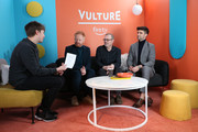 (L-R) Pat Regan, David France, and Jesse Tyler Ferguson, and Justin Mikita attend The Vulture Spot presented by Amazon Fire TV 2020 at The Vulture Spot on January 26, 2020 in Park City, Utah.