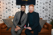 (L-R) Justin Mikita and Jesse Tyler Ferguson attend The Vulture Spot presented by Amazon Fire TV 2020 at The Vulture Spot on January 26, 2020 in Park City, Utah.