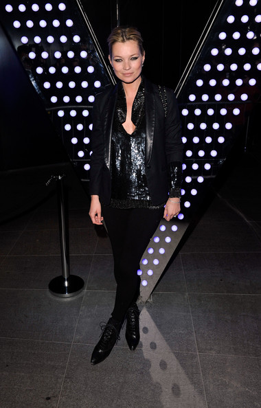 Kate Moss arrives for the opening of the new 'W' Hotel in Leicester Square at W London Leicester Square on March 16, 2011 in London, England.