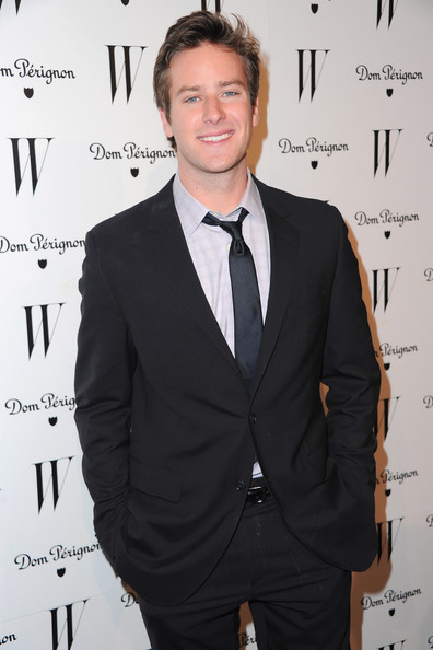Actor Armie Hammer arrives to the W Magazine Golden Globe Awards party on January 14, 2011 in West Hollywood, California.
