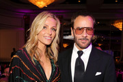 """WCRF Co-Founder Jamie Tisch and Tom Ford attend WCRF's """"An Unforgettable Evening"""" at the Beverly Wilshire Four Seasons Hotel on February 28, 2019 in Beverly Hills, California."""