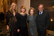 "(L-R) WCRF Co-Founder Jamie Tisch, Kate Capshaw, WCRF Co-Founder Marion Laurie and Steven Spielberg attend WCRF's ""An Unforgettable Evening"" at the Beverly Wilshire Four Seasons Hotel on February 28, 2019 in Beverly Hills, California."
