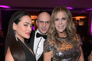 """(L-R) Natalie Martinez, Pitbull and honorary chair Rita Wilson attend WCRF's """"An Unforgettable Evening"""" Presented by Saks Fifth Avenue on February 27, 2018 in Beverly Hills, California."""