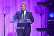 "James Corden speaks onstage during WCRF's ""An Unforgettable Evening"" Presented by Saks Fifth Avenue on February 27, 2018 in Beverly Hills, California."