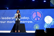 Monique Coleman speaks onstage during WE Day UN 2019 at Barclays Center on September 25, 2019 in New York City.