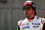 TOYOTA GAZOO RACING in the Toyota TS050 - Hybrid driver Fernando Alonso of Spain looks on from pit lane as he competes during the Qualifying session in the WEC 6 Hours Of Spa-Francorchamps at Circuit de Spa-Francorchamps on May 4, 2018 in Spa, Belgium.