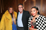 """(L - R)  Angela Simmons, President and General Manager of WeTv Marc Juris, and Vanessa Simmons attend the """"Growing Up Hip Hop"""" season 4 party on December 4, 2018 in New York City."""