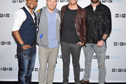 (L-R) Actor Hill Harper, director Marc Webb, actor Jake McDorman and producer Craig Sweeny attend WIRED Cafe at Comic Con 2015 in San Diego at Omni Hotel on July 9, 2015 in San Diego, California.