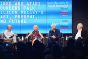 (L-R) Adam Fisher, Jane Metcalfe, Louis Rossetto, and Nolan Bushnell speak onstage at WIRED25 Festival: WIRED Celebrates 25th Anniversary ? Day 2 on October 14, 2018 in San Francisco, California.