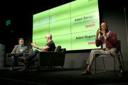 (L-R) Adam Rogers, Adam Savage, and a sign language interpreter speak at WIRED25 Festival: WIRED Celebrates 25th Anniversary ? Day 2 on October 14, 2018 in San Francisco, California.