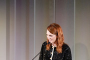 Julianne Moore speaks onstage during the WSJ. Magazine 2019 Innovator Awards sponsored by Harry Winston and Rémy Martin at MOMA on November 06, 2019 in New York City.