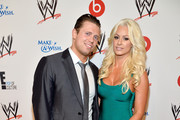 Professional wrestlers The Miz (L) and Maryse Ouellet attend WWE & E! Entertainment's 'SuperStars For Hope' at the Beverly Hills Hotel on August 15, 2013 in Beverly Hills, California.