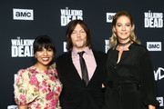 Karen David, Norman Reedus  and Jenna Elfman attend The Walking Dead Premiere and Party on September 23, 2019 in West Hollywood, California.