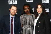Scott Gimple, Danai Gurira and Sarah Barnett attend The Walking Dead Premiere and Party on September 23, 2019 in West Hollywood, California.