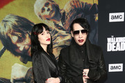 Lindsay Usich and Marilyn Manson attends The Walking Dead Premiere and Party on September 23, 2019 in West Hollywood, California.