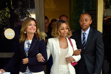 Walter Mosley Lisa Bloom Holds Pre-Court Hearing Press Conference With Her Client Blac Chyna