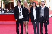 """Director Christian Molina, producer and actress Valeria Marini and actors Thomas Riordan and Ben Temple attend the """"I Want To Be A Soldier"""" Premiere during the 5th International Rome Film Festival at Auditorium Parco Della Musica on November 3, 2010 in Rome, Italy."""