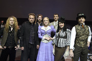 Jason Donovan, Ricky Wilson, Marti Pellow, Kerry Ellis, Will Stapleton, Lily Osborne, Michael Falzon and Jeff Wayne perform during a dress rehearsal for War of the Worlds on November 27, 2012 in London, England.