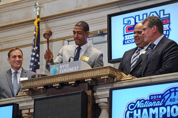 Warde Manuel Connecticut Huskies Coaches Ring the NYSE Bell