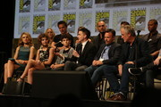 "In this handout photo provided by Warner Bros, Erin Richards, Camren Bicondova, David Mazouz, Robin Lord Taylor, Danny Cannon, and Bruno Heller of ""Gotham""  attends ""Warner Bros. Television Presents A Night of DC Entertainment"" at Comic-Con International 2014  on July 26, 2014  in San Diego, California."