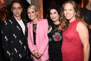(L-R) Actor Robert Downey Jr., actress Noomi Rapace, President, Worldwide Marketing and International Distribution for Warner Bros. Pictures Sue Kroll and Susan Downey attend the Warner Bros. Pictures and Dolce & Gabbana TIFF cocktail party during the 2014 Toronto International Film Festival at Momofuku Daisho on September 6, 2014 in Toronto, Canada.