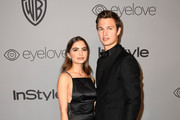 Violetta Komyshan (L) and actor Ansel Elgort attend 19th Annual Post-Golden Globes Party hosted by Warner Bros. Pictures and InStyle at The Beverly Hilton Hotel on January 7, 2018 in Beverly Hills, California.