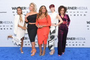 "(L-R) ""Claws"" cast members Karrueche Tran, Jenn Lyon, Niecy Nash, Carrie Preston and Judy Reyes attend the WarnerMedia 2019 Upfront at One Penn Plaza on May 15, 2019 in New York City."