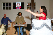 Daveed Diggs reacts to a surprise performance by Lena Hall for his birthday at the WarnerMedia Snowpiercer and Miracle Workers Dinner at WarnerMedia Lounge on January 24, 2020 in Park City, Utah. 731296