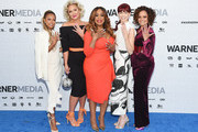 Karrueche Tran, Jenn Lyon, Niecy Nash, Carrie Preston and Judy Reyes of TNT's Claws attend the WarnerMedia Upfront 2019 arrivals on the red carpet at The Theater at Madison Square Garden on May 15, 2019 in New York City. 602140