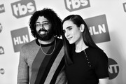 Image has been shot in black and white. No color version available) Daveed Diggs and Jennifer Connelly of 'Snowpiercer' pose in the green room during the 2020 Winter Television Critics Association Press Tour at The Langham Huntington, Pasadena on January 15, 2020 in Pasadena, California. 697450