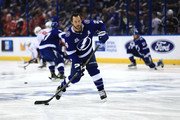 Ryan Callahan #24 of the Tampa Bay Lightning warms up prior to Game Five of the Eastern Conference Finals against the Washington Capitals during the 2018 NHL Stanley Cup Playoffs at Amalie Arena on May 19, 2018 in Tampa, Florida.