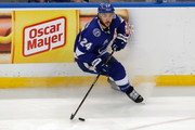 Ryan Callahan #24 of the Tampa Bay Lightning looks to pass against the Washington Capitals during the third period in Game Two of the Eastern Conference Finals during the 2018 NHL Stanley Cup Playoffs at Amalie Arena on May 13, 2018 in Tampa, Florida.